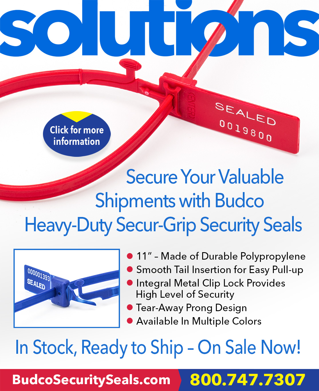 Secur-Grip Plastic Security Seals